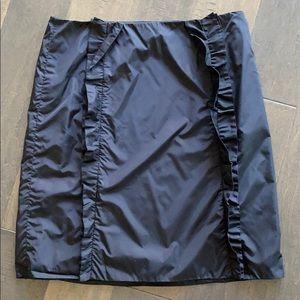 Authentic PRADA ruffle front Skirt sz44